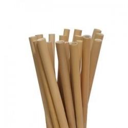 Pailles en bambou 30 cm - Sachet de 100